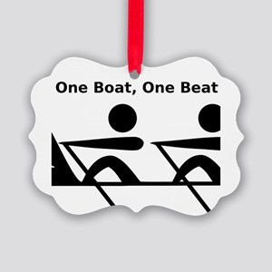 One Boat, One Beat Picture Ornament