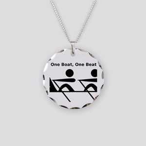 One Boat, One Beat Necklace Circle Charm