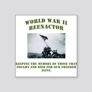 WWII GI Reenactor Square Sticker