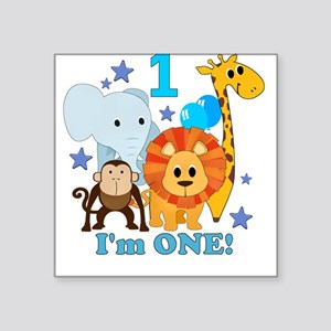 First Birthday Jungle Square Sticker