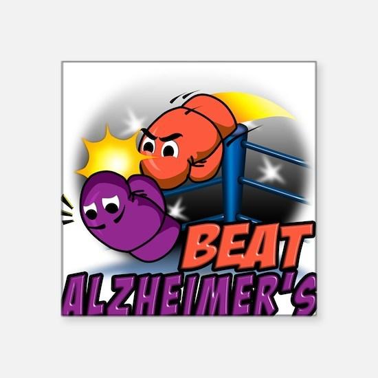 Beat Alzheimer's Square Sticker