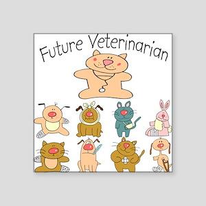 Future Veterinarian Unique Baby/Toddler Square Sti