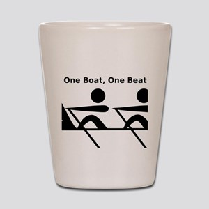 One Boat, One Beat Shot Glass