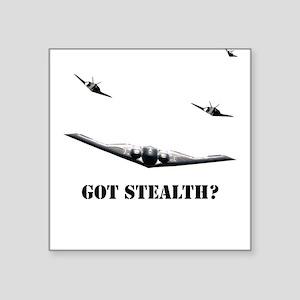 Stealth Bomber & F-117 Square Sticker