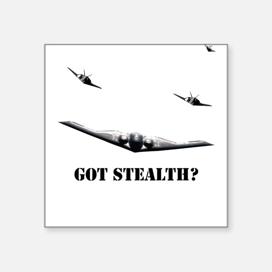 Stealth Bomber & F-117 Square Sticker