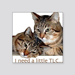 TLC tabbies Square Sticker