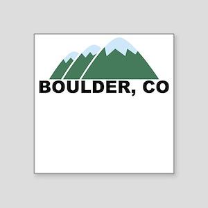 Boulder, CO Square Sticker