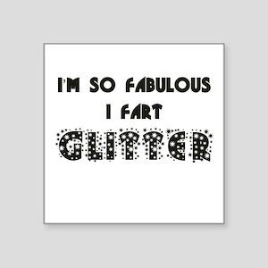 Fart Glitter Square Sticker