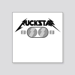Ruckstar Light Grey Square Sticker