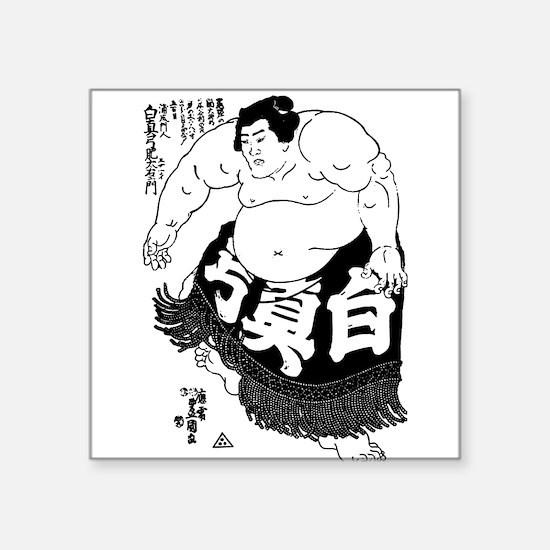 Sumo Wrestler Square Sticker