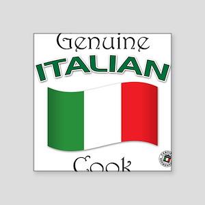 Genuine Italian Cook Square Sticker
