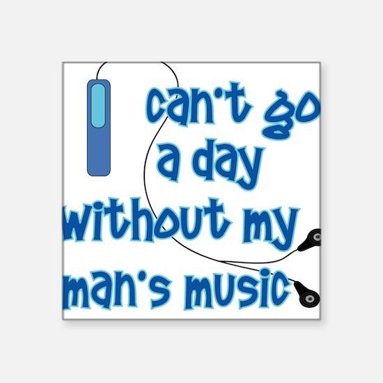 MP3 Mania Blue Square Sticker