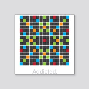 Word Game Addiction - Square Sticker