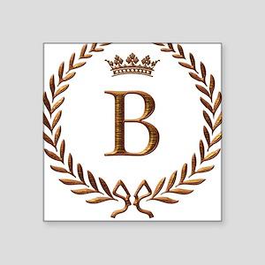 Napoleon initial letter B monogram Square Sticker