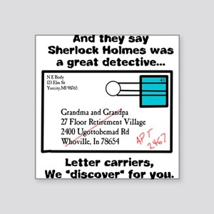 Detective Square Sticker