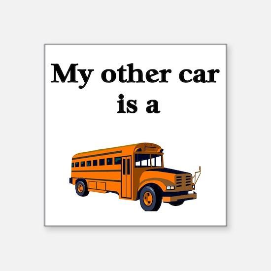 School Bus Driver Square Sticker