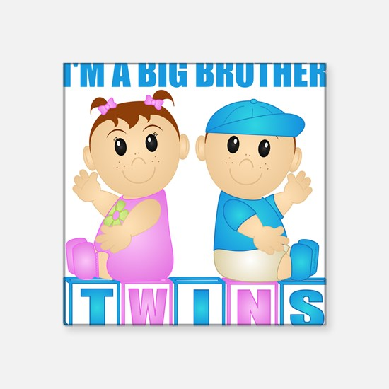I'm A Big Brother (PBG:blk) Square Sticker