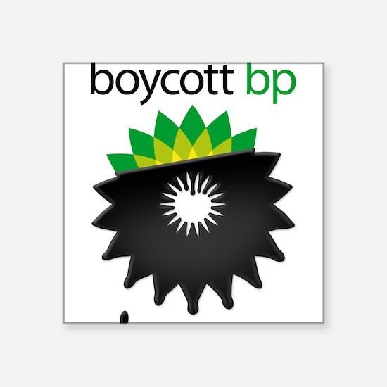 boycott bp Square Sticker