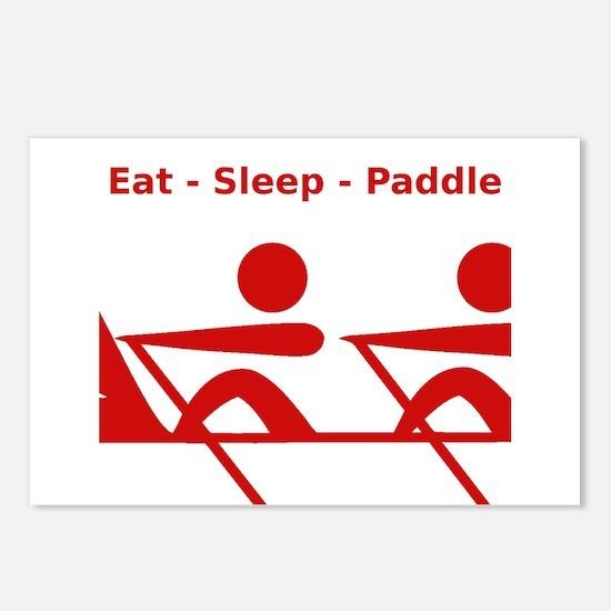 Eat - Sleep - Paddle Postcards (Package of 8)