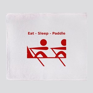 Eat - Sleep - Paddle Throw Blanket