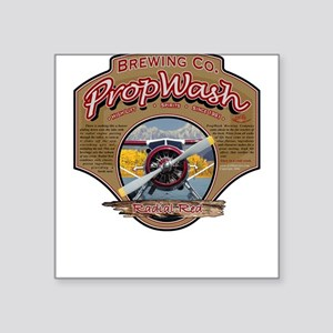 PW Brewing Co. Radial Red. Square Sticker