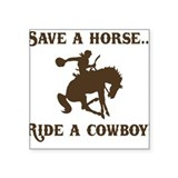 Funny cowboy Stickers & Flair