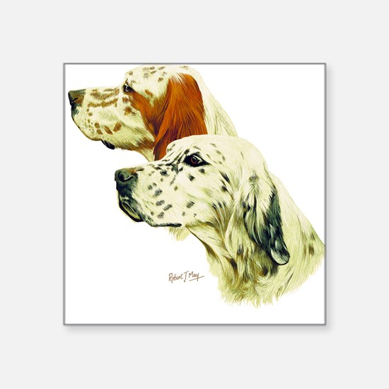 English Setter Square Sticker