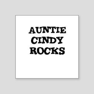 AUNTIE CINDY ROCKS Creeper Square Sticker