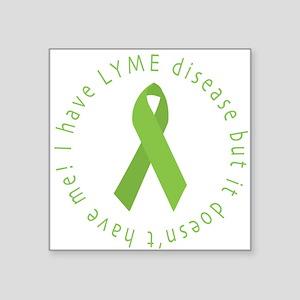 Lyme Disease Awareness Square Sticker
