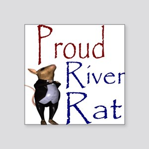 Proud River Rat Poker Square Sticker