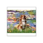 Lilies2-Aussie Shep (#4) Square Sticker 3