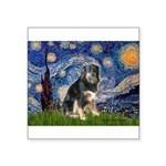 Starry - Aussie Shep (tri-L) Square Sticker 3