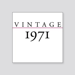 Vintage 1971 Square Sticker
