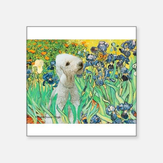 """Irises /Bedlington T Square Sticker 3"""" x 3"""""""