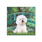Bridge & Bichon Square Sticker 3