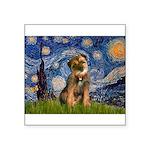 Starry Night / Border Terrier Square Sticker 3