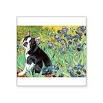 Irises & Boston Ter Square Sticker 3