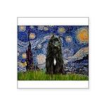 Starry Night Bouvier Square Sticker 3