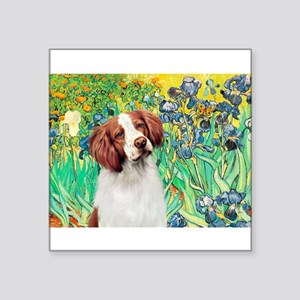 "Irises/Brittany Square Sticker 3"" x 3"""
