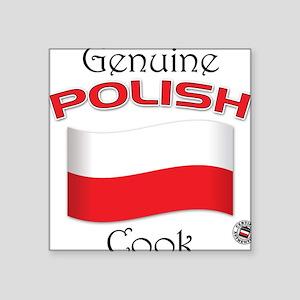 Genuine Polish Cook Square Sticker