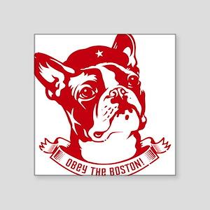 Boston Terrier Red Icon - Square Sticker