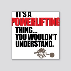 POWERLIFTING BENCH PRESS Square Sticker