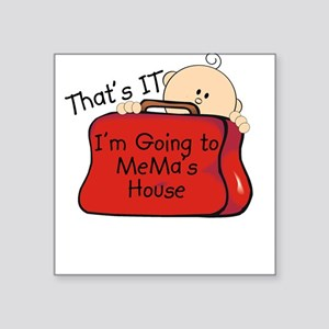 Going to Mema's Funny Square Sticker