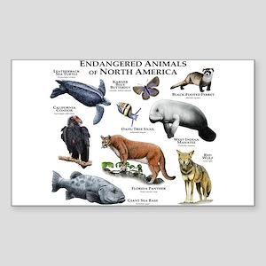 Endangered Species of North America Sticker (Recta