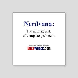 Nerdvana Square Sticker