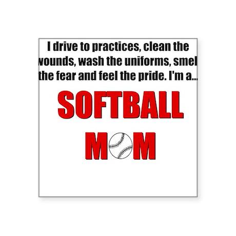 Softball Mom Square Sticker