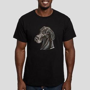 N Blk Soft Smile Men's Fitted T-Shirt (dark)