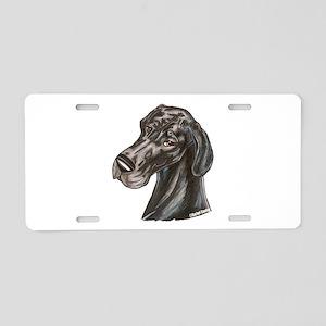 N Blk Soft Smile Aluminum License Plate