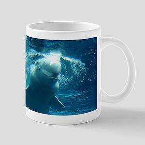 Close up of a Beluga Whale 5 Mug