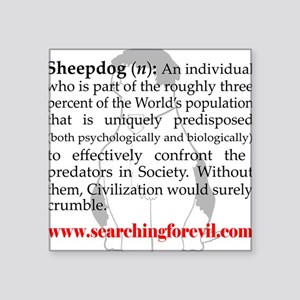 Sheepdog Definition Square Sticker